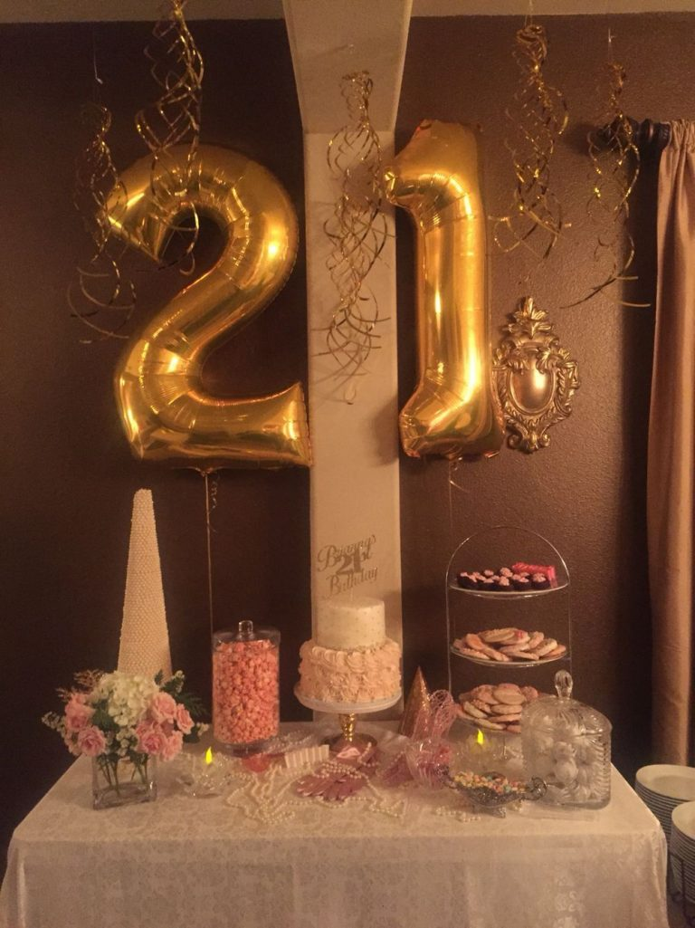 21st Birthday Party Supplies Best Of Pink and Gold…