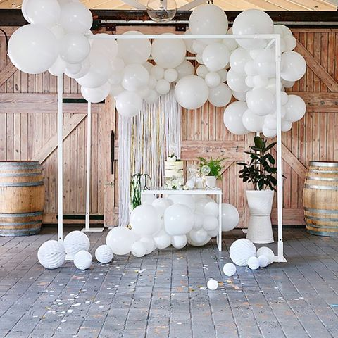All white delighting_ Our DIY Balloon Garland Kits…