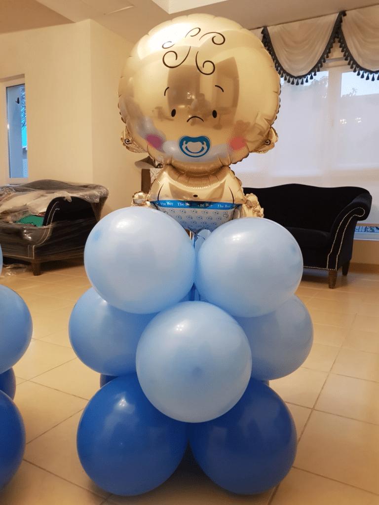 Baby Boy Balloon Pillar