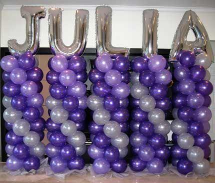 Balloon+Columns _ BALLOON COLUMNS _ Weston Events, Luxury Party Rentals