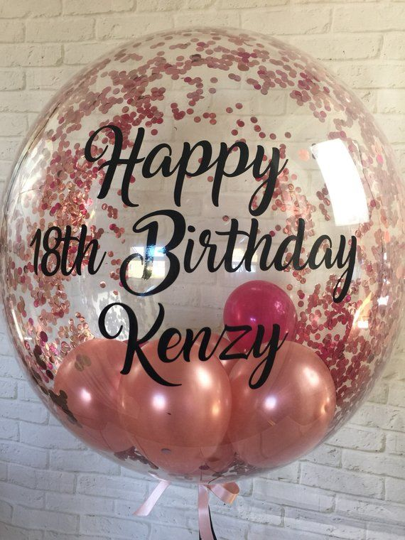 Personalised birthday balloon_helium inflated…