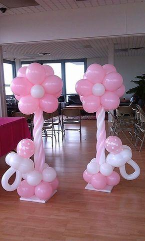 Shower Flower Balloon Columns