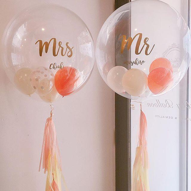 こんにちは! チャビーバルーンです☺️︎ ウェディングで大人気の Mr&Mrsのバルーン、…
