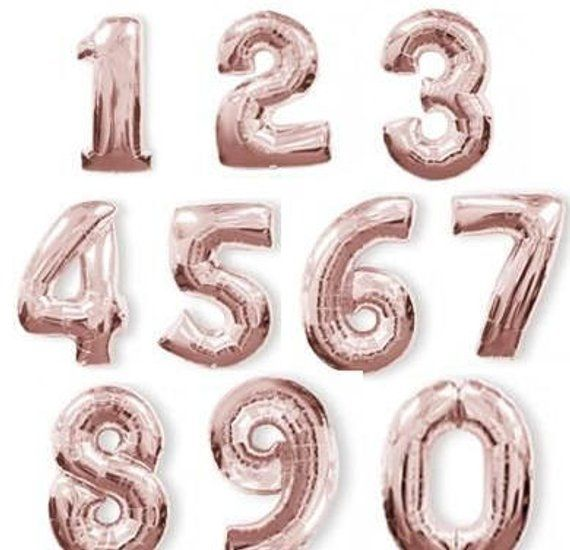 16 Inch Number Balloons _ Choose Your Color - Choose Your Number _ Birthday Decorations
