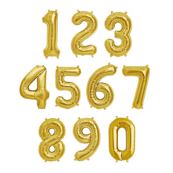32_5_ Gold Foil Balloon Number