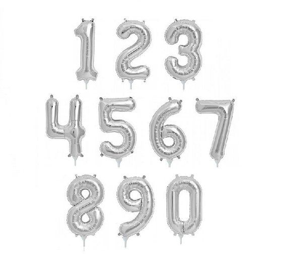 Superior Quality 16 inch Silver Foil Number by…