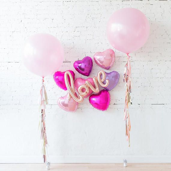 Love Backdrop Balloons _ Engagement Party Decorations Balloons _ Wedding Balloons _ Love Balloons _ Candy Buffet Decor _ Bridal Shower